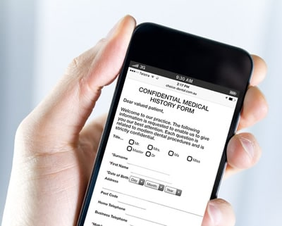 Choice Dental New Patient Form Mobile Phone Input